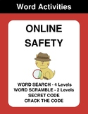Online Safety - Word Search, Word Scramble,  Secret Code,