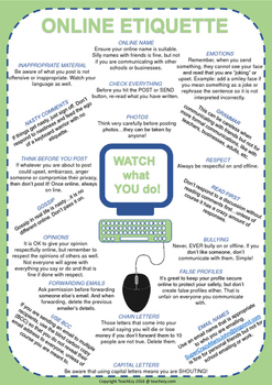 Online Safety and Etiquette Posters