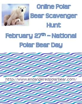 Online Scavenger Hunt - Polar Bear Day (Feb. 27)