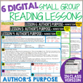 Online & in Class Small Group Reading Lessons:AUTHOR'S PUR