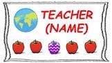 Online ESL Teacher Name Plate