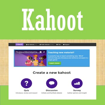 Online Tools - Kahoot - Quiz/Review Game