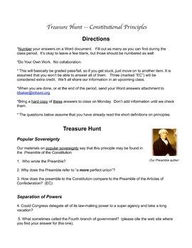 "Online ""Treasure Hunt for Constitutional Principles"