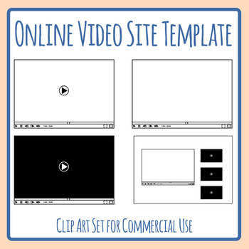 Online Video Site Template - Similar to YouTube or Vimeo Clip Art Set