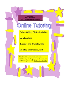 Online Writing Clinic Flyer