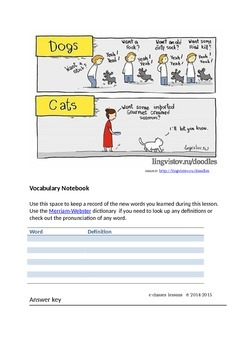 Online lesson [Elementary - Art and entertainment - Dog people vs. cat people]