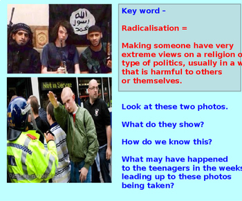 Online radicalisation and extremism (1hr PP worksheet and activities)