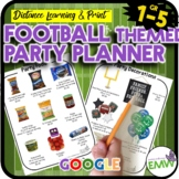 Football Themed Math Activity Party Planner