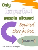 Only Imperfect People Allowed {purple gold}