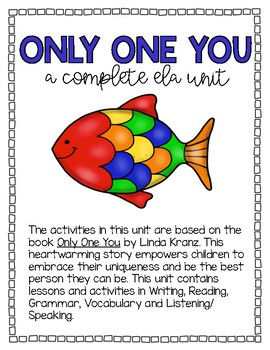 Only One You - A Complete ELA Unit - ELL