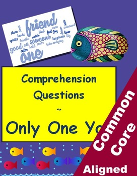 Only One You Reading Comprehension Worksheets for Grades 3-5