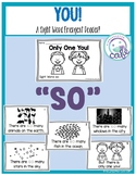 """Only One You: Sight Word Emergent Reader """"so"""""""