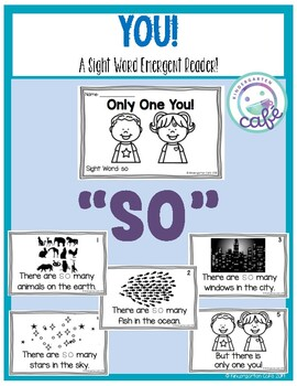 "Only One You: Sight Word Emergent Reader ""so"""