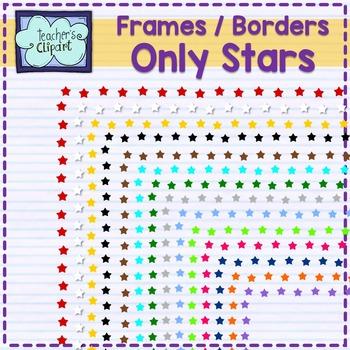 Only stars frames - borders Clip art