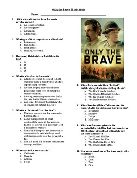 Only the Brave Movie Quiz