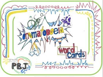 Onomatopeia Word Cards Free