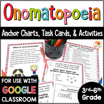 Onomatopoeia Activities And Task Cards By Kirstens Kaboodle Tpt