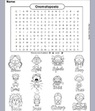Onomatopoeia Worksheet/ Word Search