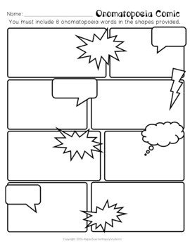 Onomatopoeia Activities & Posters: Word List, Write a Comic & more!