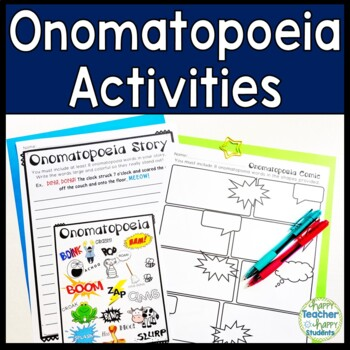 Onomatopoeia Activities & Posters: Word List, Write a Comi