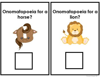 Onomatopoeia Adapted Book