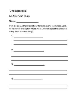 Onomatopoeia - All American SLURP!