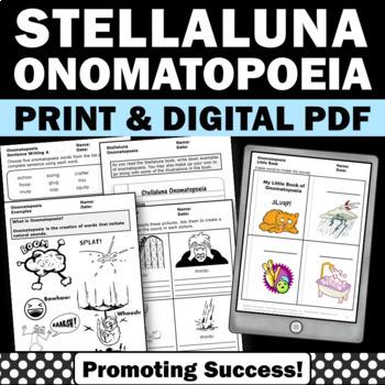 Stellaluna Activities, Onomatopoeia Worksheets, Stellaluna Book Study Companion