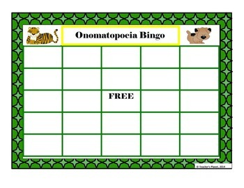 Onomatopoeia Bingo, Anchor Chart and Creative Writing!