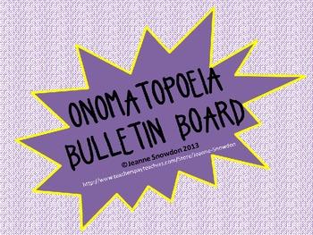 Onomatopoeia Bulletin Board Decor