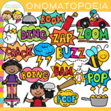 Onomatopoeia Clip Art - Figurative Language Clip Art