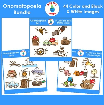 Onomatopoeia Clip Art MEGA Bundle (Set 1, Set 2, and Set 3)