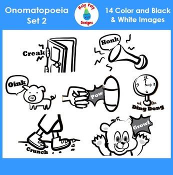 Onomatopoeia Clip Art Set 2