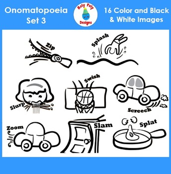 Onomatopoeia Clip Art Set 3