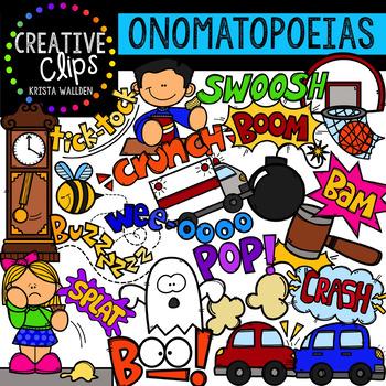 Onomatopoeia Clipart {Creative Clips Digital Clipart}