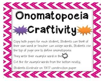Onomatopoeia Craftivity