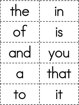 Onomatopoeia Fry's First 100 Sight Words Game