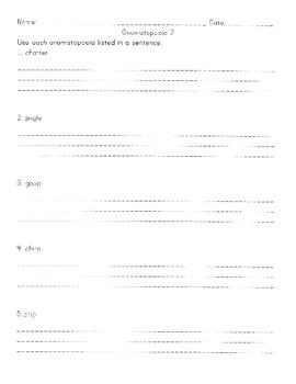 Onomatopoeia Homework