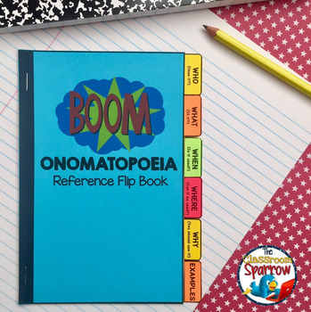 Onomatopoeia Interactive Notebook Flip Book (Activities, Mini-lesson)