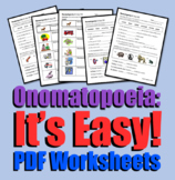 Onomatopoeia: It's Easy! (Worksheets)