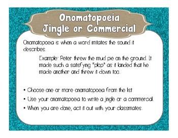Onomatopoeia Jingle or Commercial