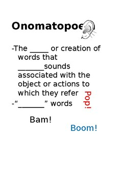 Onomatopoeia Lesson Bundle