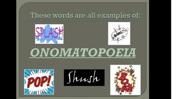 Onomatopoeia Lesson Plan, PowerPoint, and Activities