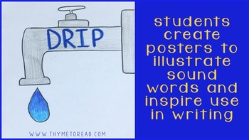 Onomatopoeia Mentor Text Lesson and Writing Center