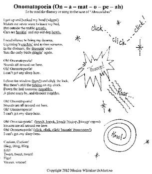 Onomatopoeia Poem