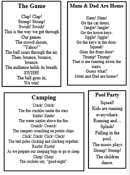Onomatopoeia Poems