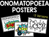 Onomatopoeia Posters; 3 versions; Figurative Language
