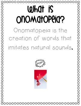 Onomatopoeia Posters & Activities