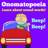 Onomatopoeia | Kindergarten 1st 2nd 3rd Grade | PowerPoint Lesson