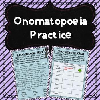 Onomatopoeia Practice Activities