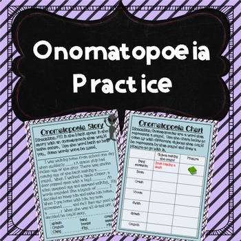 Onomatopoeia Practice Activities
